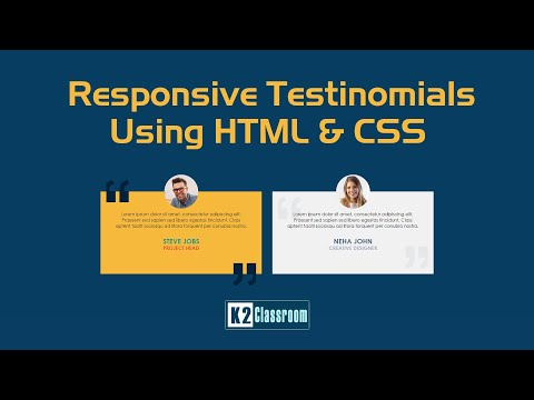 Responsive Testinomials Using Html & Css Only | Html Css Tutorial | Html Css Testinomials Section