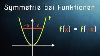 Symmetrie bei Funktionen - Achsensymmetrie und Punktsymmetrie