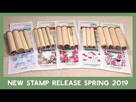 Rubber Stamp Tapestry Spring Stamp Release 2019