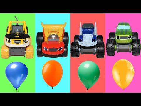 Учим цвета с Вспыш и чудо машинки Мультики про машинки Лопаем шарики Мультфильмы для детей Игрушки