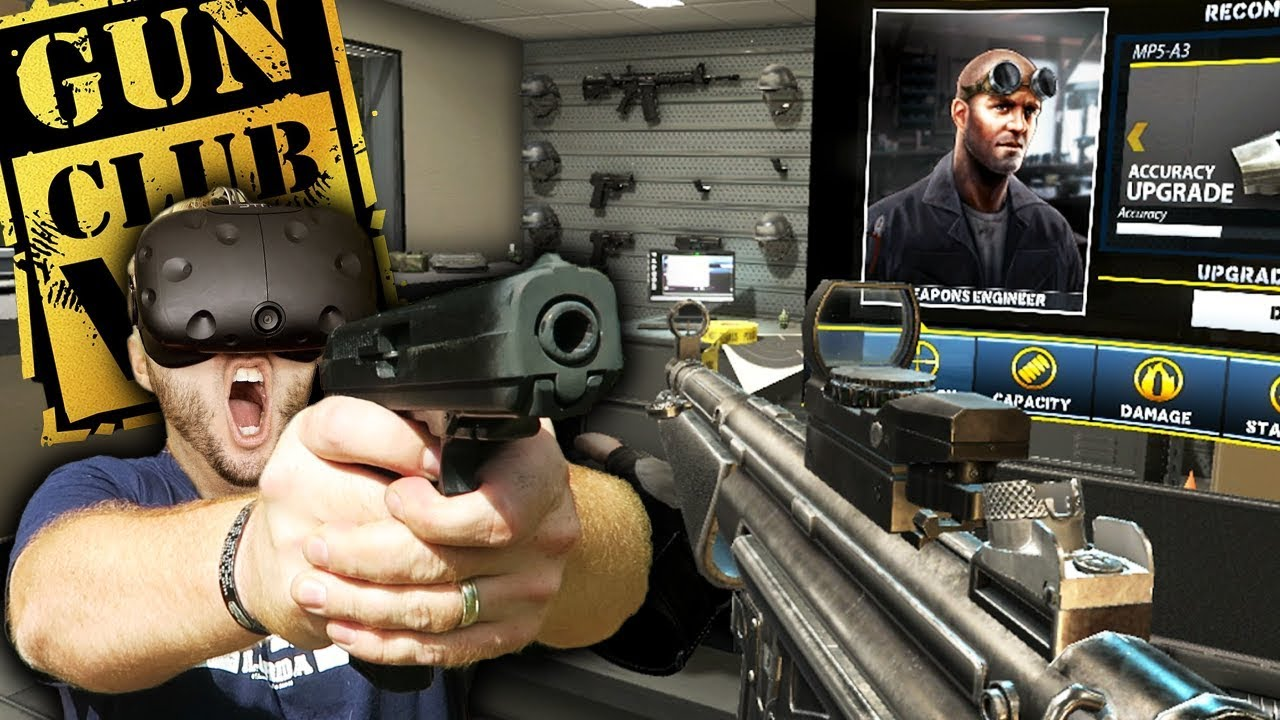 Best Virtual Reality Gun Range Game Gun Club Vr Gameplay Htc Vive Youtube