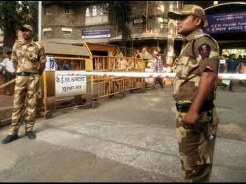 Armed security personnel deployed to guard Mumbai doctors