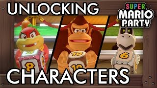 Super Mario Party - How to Unlock Donkey Kong, Diddy Kong, Dry Bones & Pom Pom