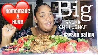 ✨SALAD CHALLENGE✨ / SAVAGE EATING/ HOMEMADE || SOCIAL EATING | EATING SHOW