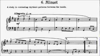 First Lessons in Bach Book 1 No.6 Minuet 3 Suite BWV822 G Major Sheet Music