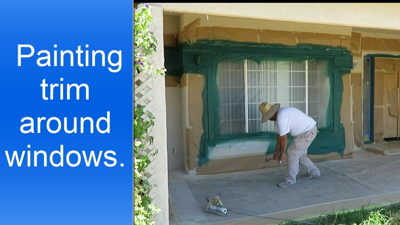 How to paint exterior window trim youtube for How to paint trim