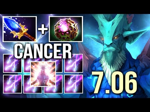 NEW 7.06 SCEPTER Leshrac Cancer Storm 4s Slow Talent Tree by OG.Fly 4vs5 Game WTF Dota 2
