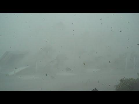 Category 5 Hurricane Michael - Mexico Beach, FL 15th Street & Steve's Lane - Full Stock Video
