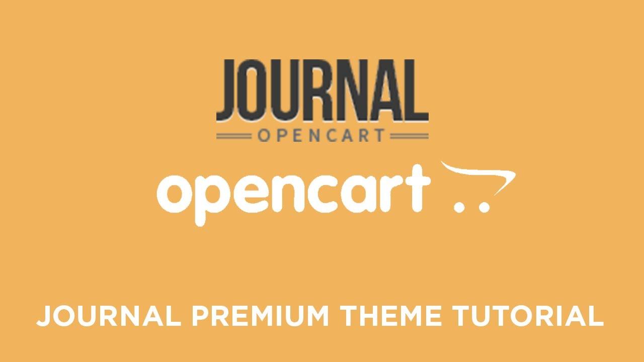 Journal Premium & Responsive OpenCart Theme v2 1 2 (Basic Setup &  Installation)