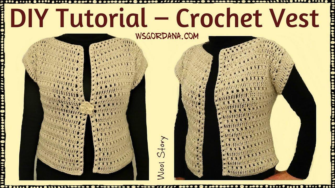 crochet vest tutorial video