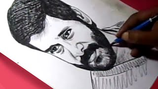 How to Draw Tamil Film Actor CHIYAAN VIKRAM Drawing For Kids