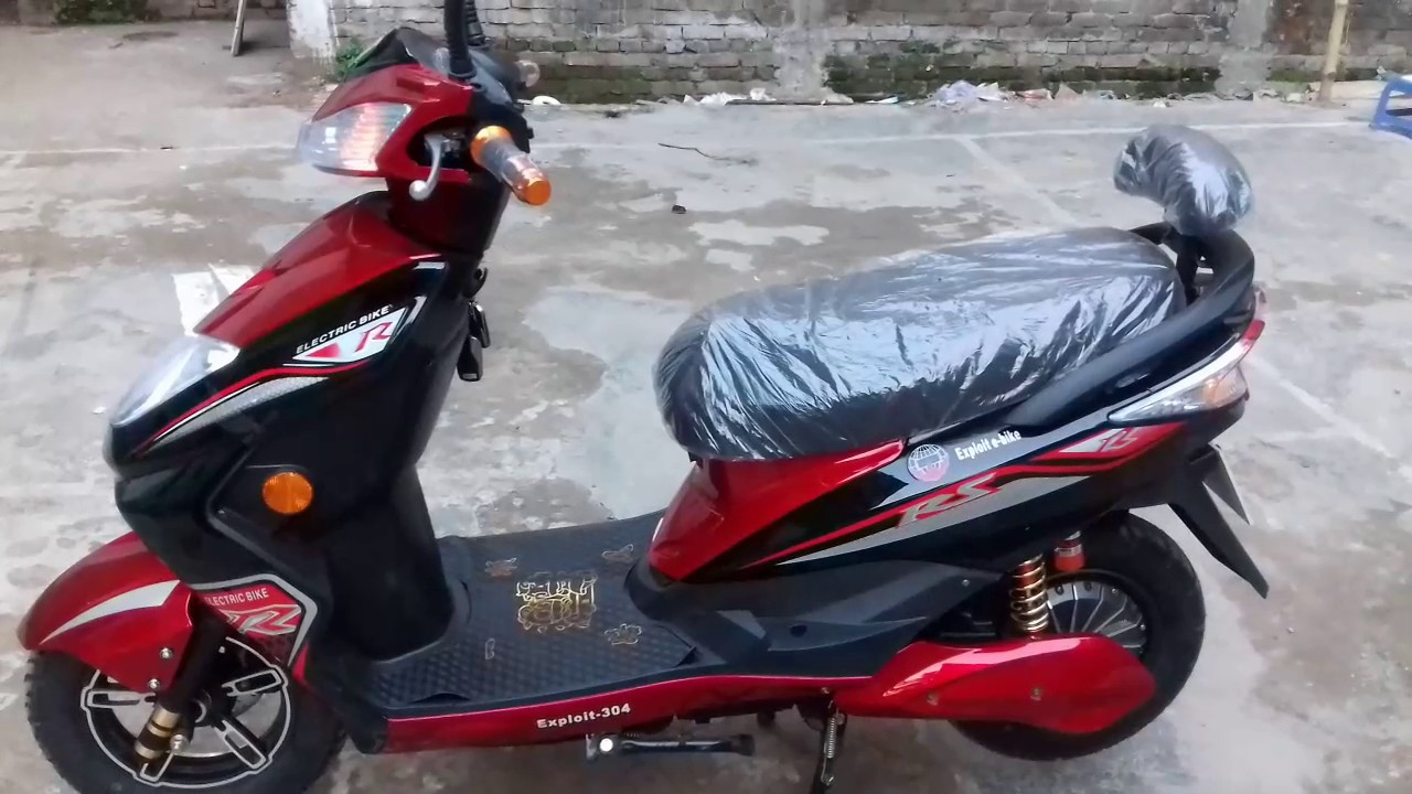 Scooty, Electric Bike, Battery Operated two wheeler, model ...