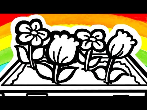 flowers-coloring-pages-|-easy-drawings-for-kids