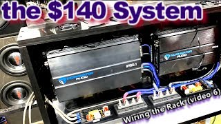 The $140 Sound System - Wiring the Amp Rack & Securing the Platform 2004 Honda Accord (Video 6)