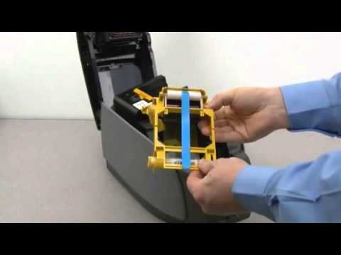 Zebra ZXP Series 3 ID Card Printer - How to Load Ribbons