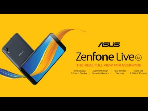 Asus ZenFone Live L1 First Look, Specs, Features, Official Look, Price, Features, Review, Trailer