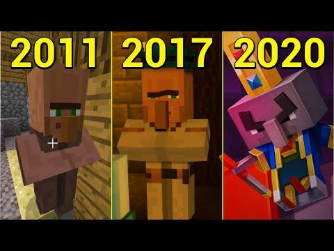 Evolution of Villager in Minecraft 2011-2020