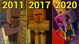Evolution of Villager in Minecraft 2011-2020