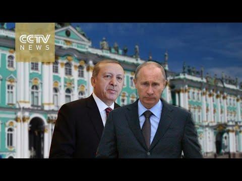 Turkish leader Erdogan visits Putin in Russia