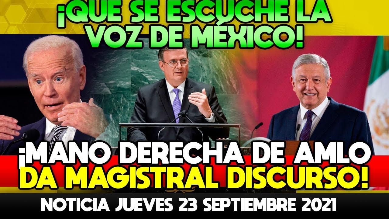 SE ESCUCHA LA VOZ DE MÉXICO! EBRARD DA UN ÉPICO DISCURSO QUE DEJA A TODAS LAS NACIONES EN SHOCK!