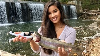 Her FIRST Trout Ever!!! Trout Fishing the Patapsco River