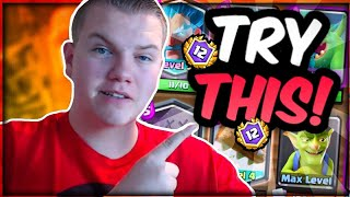TRY THIS! 12 Wins Graveyard Control Deck w/ Tornado LIVE in a Grand Challenge - Clash Royale
