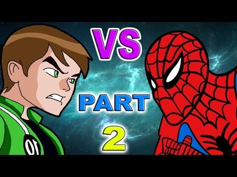Ben 10 VS Spiderman Part 2
