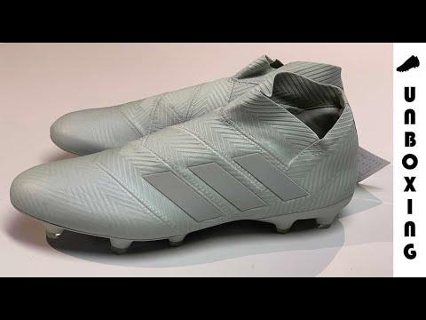 0c6b596f8 adidas Nemeziz 18+ FG AG Spectral Mode - Silver White - YouTube
