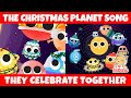 🎄The Christmas Planet Song 🎄  Christmas Songs   HiDino Kids Songs
