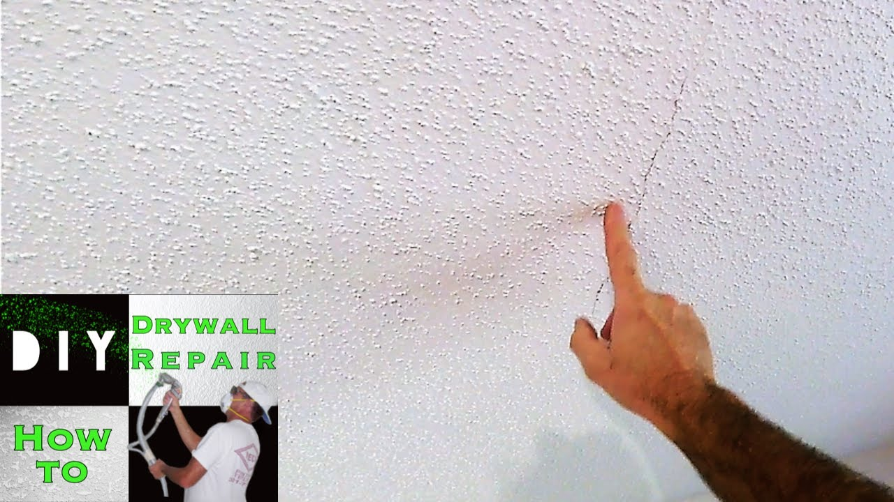 How To Repair A Ed Drywall Ceiling Trick Foot Through Attic Easy Fix Part 1
