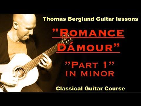 Romance dámour, part 1 in minor / Classical guitar / Acoustic Guitar lesson