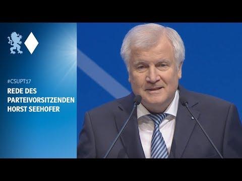 Rede des Parteivorsitzenden Horst Seehofer am #csupt17