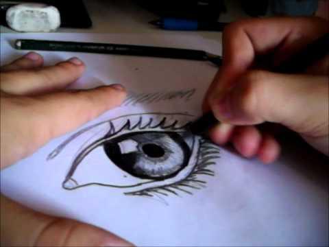 Dibujando un ojo realista  YouTube