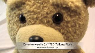 "Commonwealth 24"" TED ""PG"" (Green Tag ""R"") Rated Talking Plush Teddy Bear REVIEW!!!"