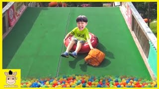 Indoor Playground Learn Kids Fun Colors Color Ball Rainbow Slide Family for Play | MariAndKids Toys