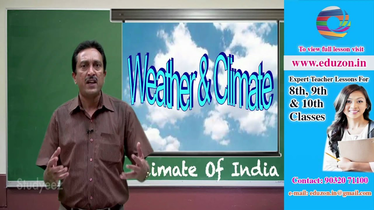 Climate of India - 10th class Social studies - YouTube