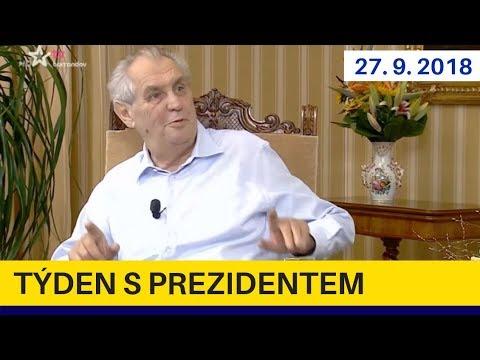 Týden s prezidentem 27.9.2018. Miloš Zeman v pořadu Jaromíra Soukupa