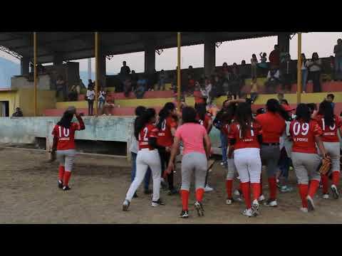 Primer Final de Softbol Femenil Maltrata,  Veracruz 2018