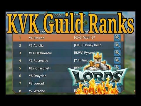 Lords Mobile KVK Guild Ranks