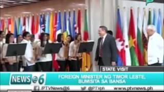 News@6: Foreign Minister ng Timor Leste, bumisita sa bansa || Dec. 17, 2015
