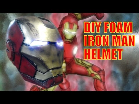 DIY IRON MAN FOAM HELMET {PART 1} E5