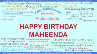 Maheenda   Languages Idiomas - Happy Birthday