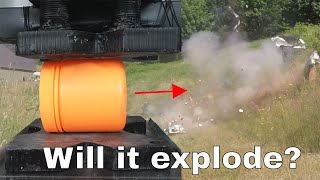 Can Tannerite Explode From the Pressure of a Hydraulic Press 50,000 psi