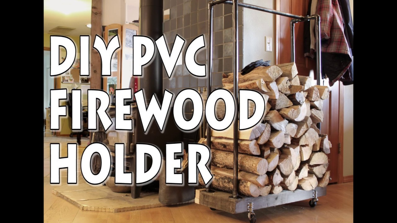 Industrial Chic Firewood Holder With Pvc Youtube