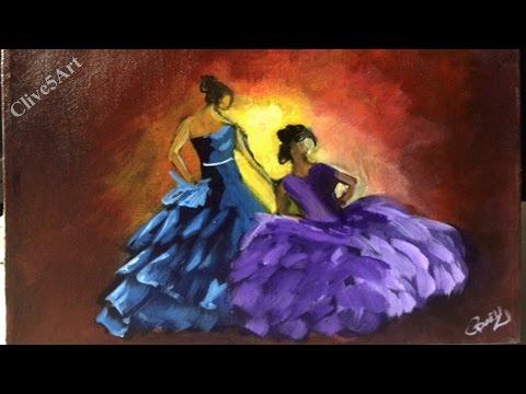 Flamenco Dancers   Acrylic painting  #clive5art