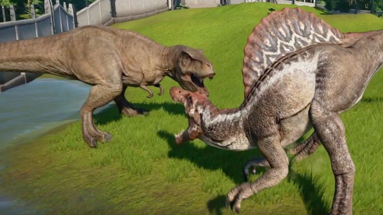 TYRANNOSAURUS REX MAX Vs GIGANOTOSAURUS,SPINOSAURUS ...Giganotosaurus Vs Spinosaurus