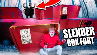 SLENDERMAN BOX FORT!!  Scary Real Life Slender IN OUR HOUSE! (Project Zero)