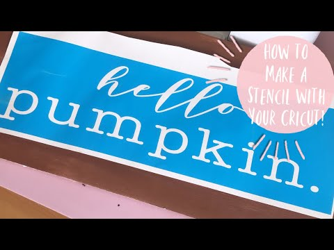 MAKE & APPLY A VINYL STENCIL W/YOUR CRICUT | How to Make a Vinyl Stencil for Wood W/Out Bleeding!