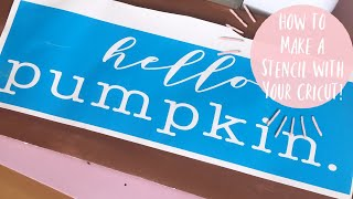 MAKE & APPLY A VINYL STENCIL W/YOUR CRICUT   How to Make a Vinyl Stencil for Wood W/Out Bleeding!