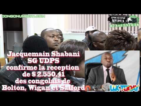 JACQUEMAIN SHABANI SG UDPS CONFIRME LA RECEPTION DE $2550 EN PROVENANCE DE BOLTON A  MANCHESTER